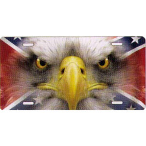 Eagle On A Rebel Flag Novelty License Plate-t3127wfr