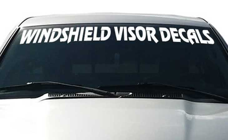 Windshield Visor Decals